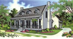 Southern Style Home Design Plan: 30-187