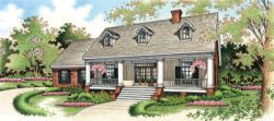 Southern Style Home Design Plan: 30-195