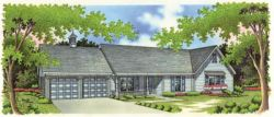 Ranch Style House Plans Plan: 30-196