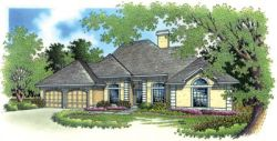 Traditional Style Home Design Plan: 30-203