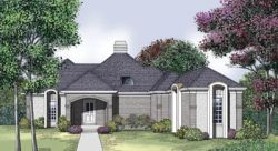 Contemporary Style Home Design Plan: 30-204