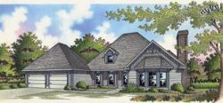 Traditional Style Home Design Plan: 30-213