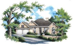 Traditional Style Home Design Plan: 30-216