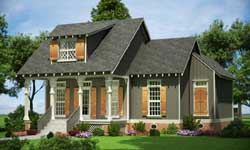 Cottage Style Home Design Plan: 30-221