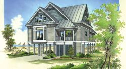 Coastal Style Home Design Plan: 30-224