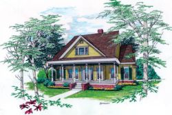 Country Style Home Design Plan: 30-261