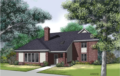 Traditional Style Home Design Plan: 30-272
