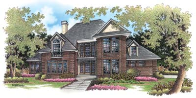 Traditional Style Home Design Plan: 30-278