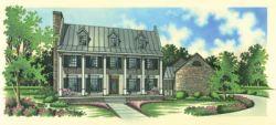 Plantation Style House Plans Plan: 30-281