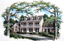 Plantation Style Home Design Plan: 30-282