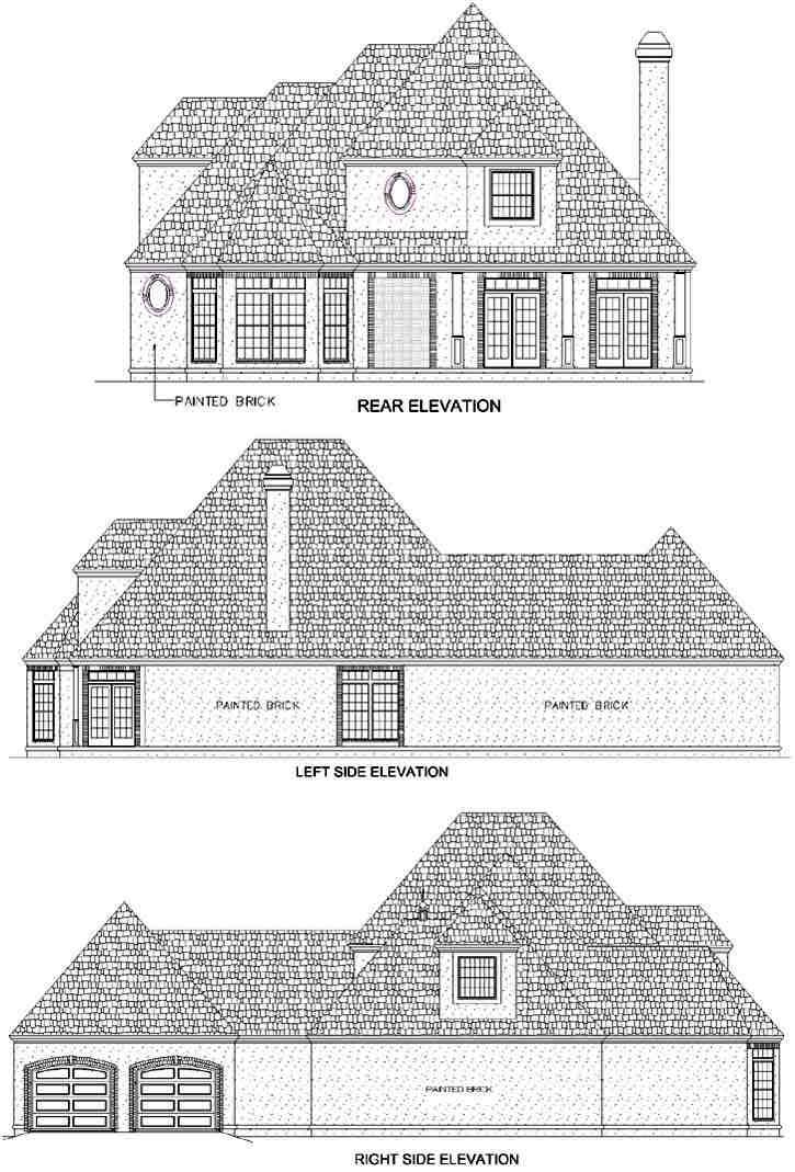 Rear Elevation Plan: 30-284