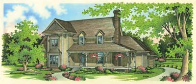 Country Style Home Design Plan: 30-293