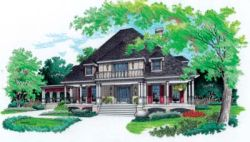 Traditional Style Home Design Plan: 30-298