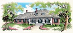 Southern Style Home Design Plan: 30-309