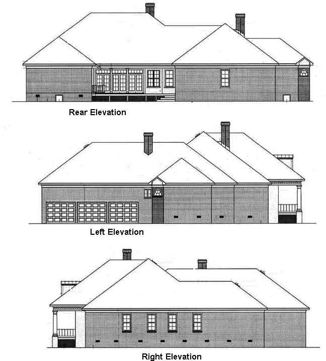 Rear Elevation Plan: 30-311