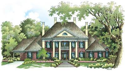 Georgian Style House Plans Plan: 30-313