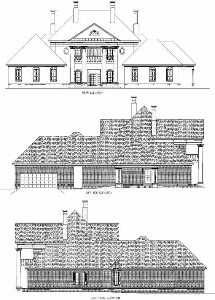 Rear Elevation Plan: 30-313