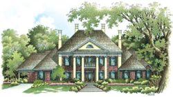 Georgian Style Home Design Plan: 30-313