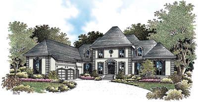 Georgian Style Home Design Plan: 30-314