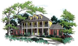Plantation Style House Plans Plan: 30-316
