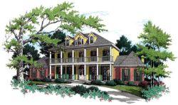 Plantation Style Floor Plans Plan: 30-316
