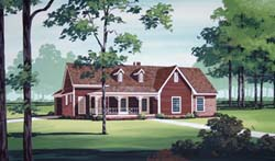Country Style Home Design Plan: 30-328