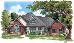 Traditional Style Home Design Plan: 30-330