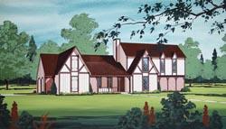 Tudor Style House Plans Plan: 30-333