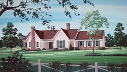Traditional Style Home Design Plan: 30-340