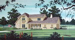 Country Style Floor Plans Plan: 30-344