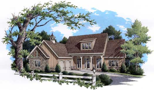 Country Style Home Design Plan: 30-347