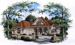 European Style Floor Plans Plan: 30-348