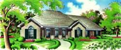 European Style House Plans Plan: 30-351