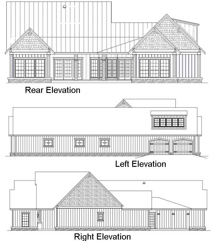 Rear Elevation Plan: 30-352