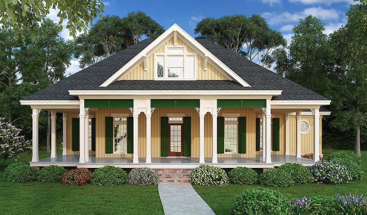 Beach Style Home Design Plan: 30-356
