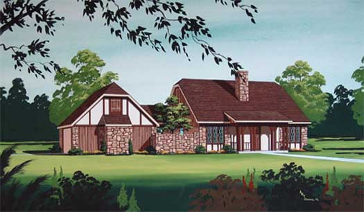 English-country Style House Plans Plan: 30-358