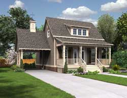 Bungalow Style Home Design Plan: 30-360