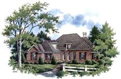 European Style Home Design Plan: 30-368