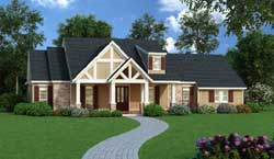 Country Style Home Design Plan: 30-374