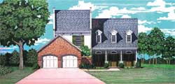 Southern Style House Plans Plan: 30-375
