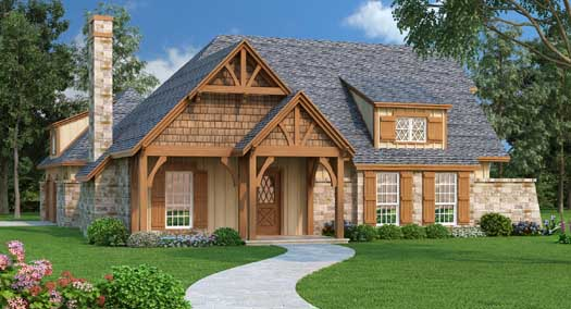 Mountain-or-rustic Style House Plans Plan: 30-380
