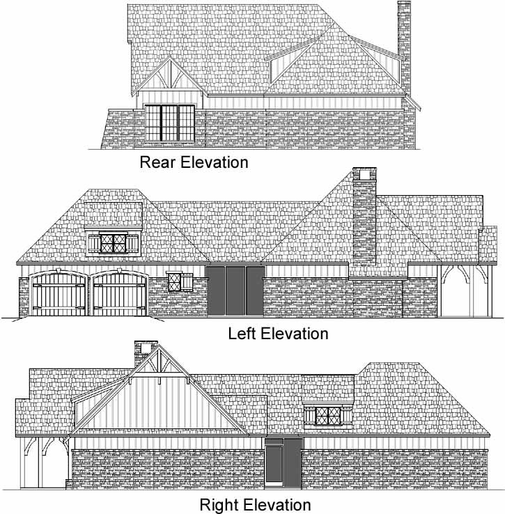 Rear Elevation Plan: 30-380