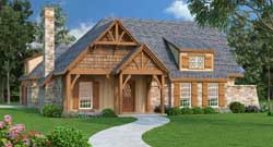 Mountain-or-Rustic Style Home Design Plan: 30-380