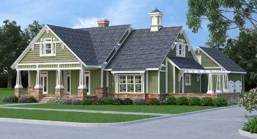 Craftsman Style Home Design Plan: 30-402