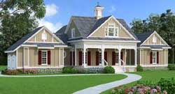 Southern Style Home Design Plan: 30-410