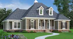 Southern Style Home Design 30-411
