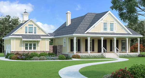 Country Style Home Design Plan: 30-412