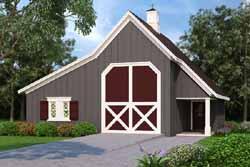 Farm Style Home Design Plan: 30-421