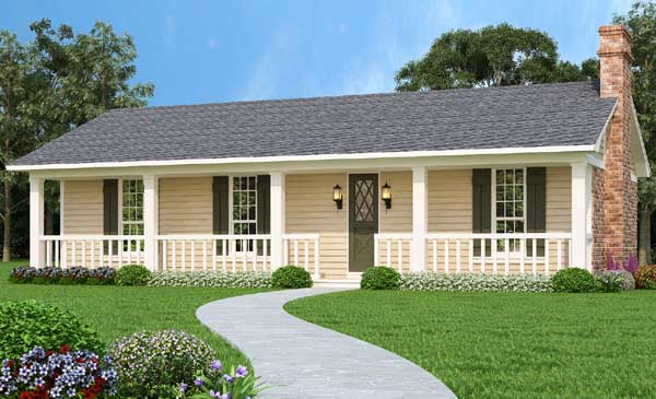 Ranch Style Home Design Plan: 30-431
