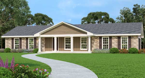 Southern Style House Plans Plan: 30-433